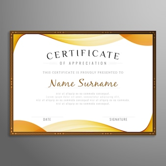 Abstract stylish certificate design