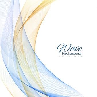 Abstract stylish wavy background