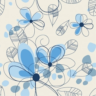 abstract summer floral background vector set