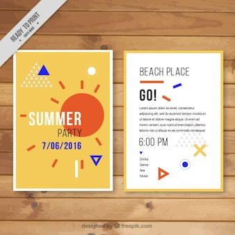 Abstract summer party flyer