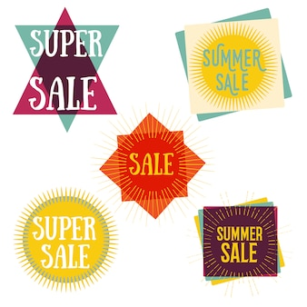 Abstract summer sale banners