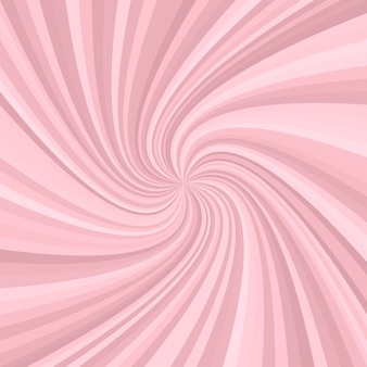 Abstract swirl background - vector graphic design from rotating rays in pink tones