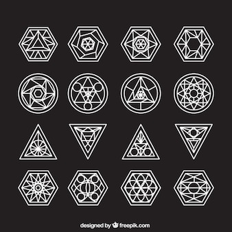 Abstract symbol collection with outline