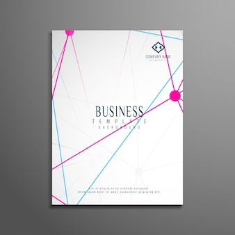 Abstract technological business brochure template
