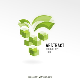 Abstract TechnologyLogo with Cubes