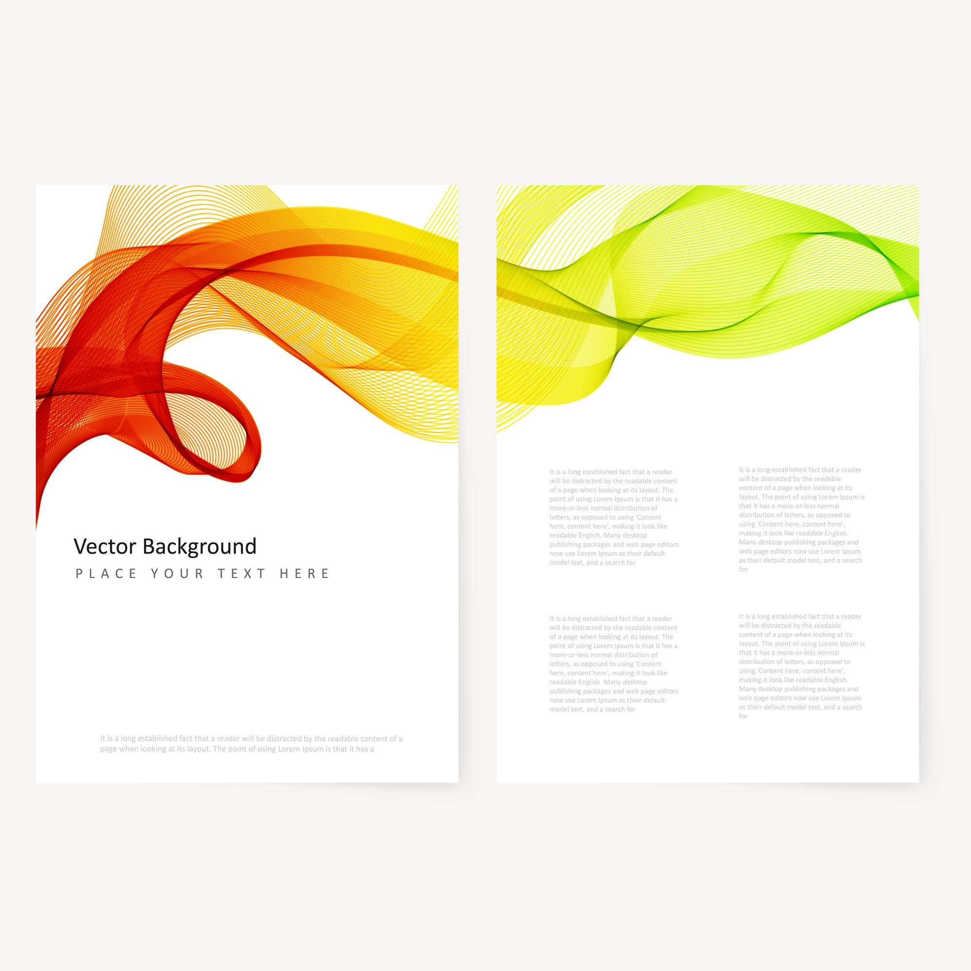Abstract template color flyer