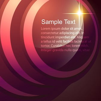 Abstract text template