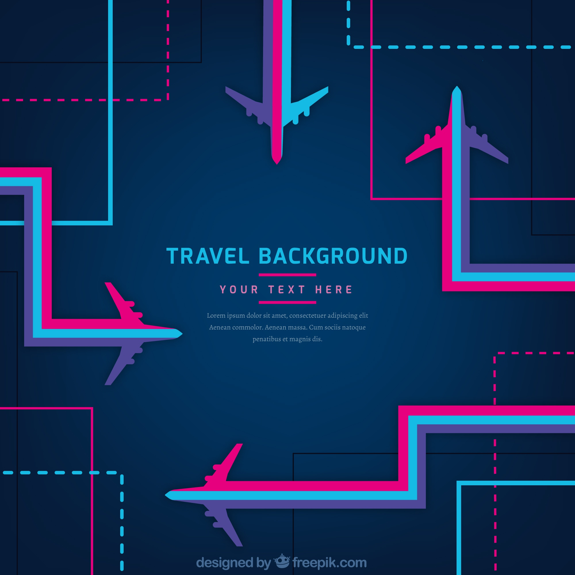 Abstract travel background