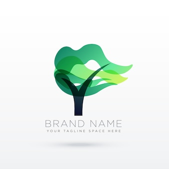 Abstract tree logotype concept