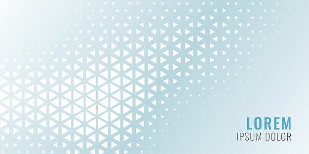 Abstract triangle pattern banner