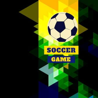 Abstract triangular soccer design