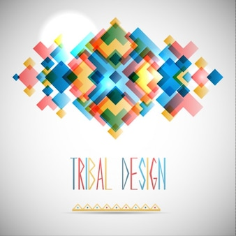 Abstract tribal design background