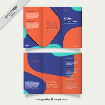Abstract trifold template