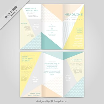 Abstract trifold with triangles