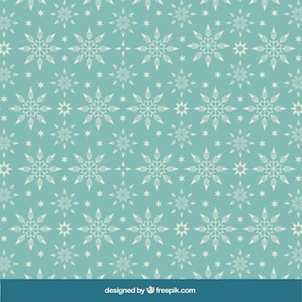 Abstract turquoise snowflakes pattern