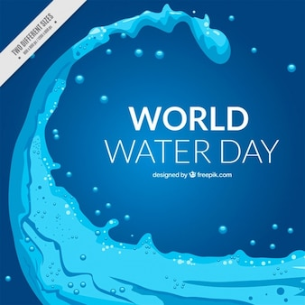 Abstract water world day background