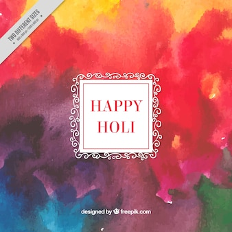 Abstract watercolor background of happy holi