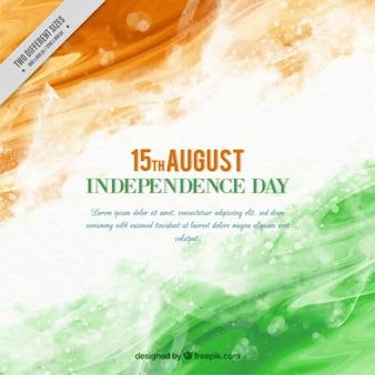 インドの背景の抽象的な水彩画の独立記念日