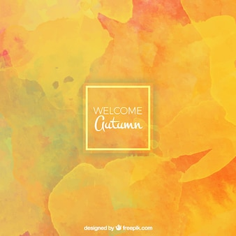 Abstract watercolor yellow background