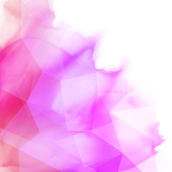 Abstract watercolour background with a low poly design
