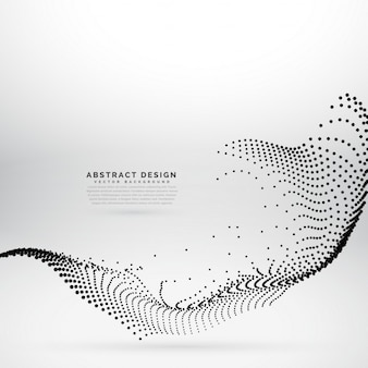 Abstract wave background with dots