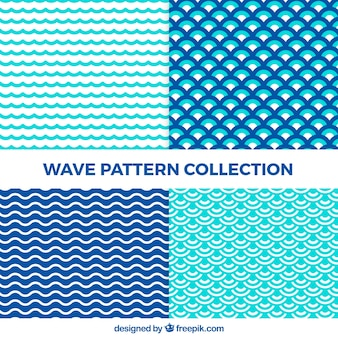 Abstract wave pattern collection