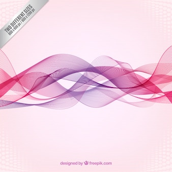 Abstract waves background in pink and purple tones