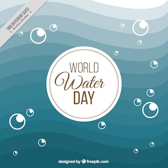 Abstract waves background of world water day