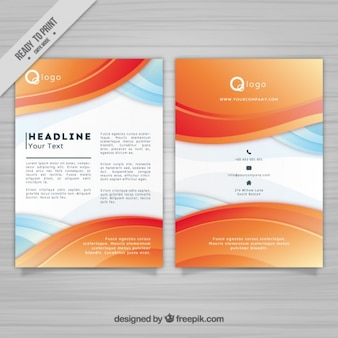 Abstract waves corporative brochure