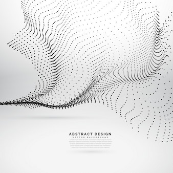 Abstract waves with dots