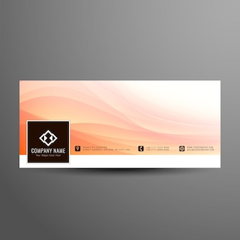Abstract wavy facebook timeline banner design