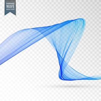 Abstract wavy shape on transparent background
