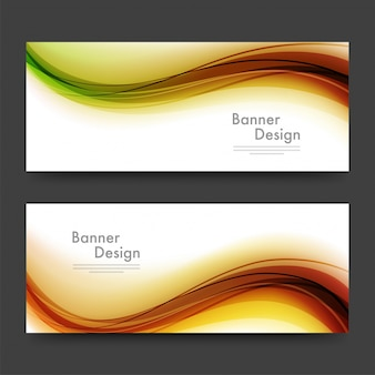 Abstract website headers or banners with waves.