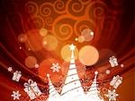 abstract xmas background vector illustration