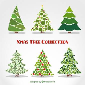 Abstract xmas trees collection
