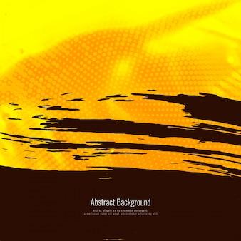 抽象的な黄色の水彩グランジの背景