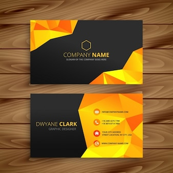 Abstract yellow business card