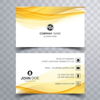 Abstract yellow corporate business card
