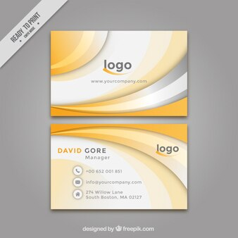 Abstract yellow corporative card