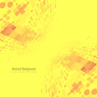 Abstract yellow halftone design background