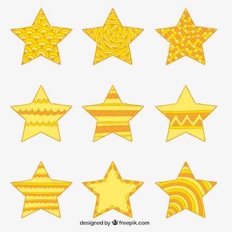 абстрактные желтые звезды