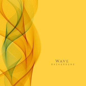 Abstract yellow wavy background