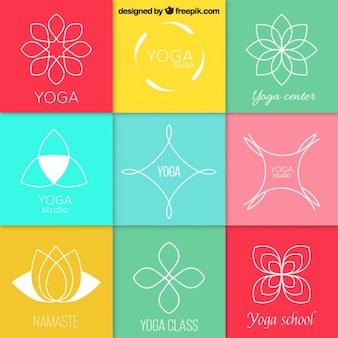 Abstract yoga logos