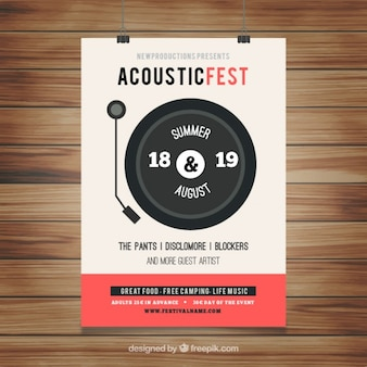 Acoustic festival poster