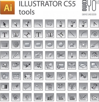 Adobe Illustrator CS5 tools set