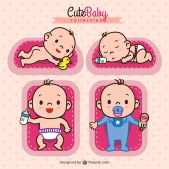 Adorable baby girl collection