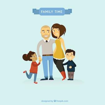 Adorable family illustration
