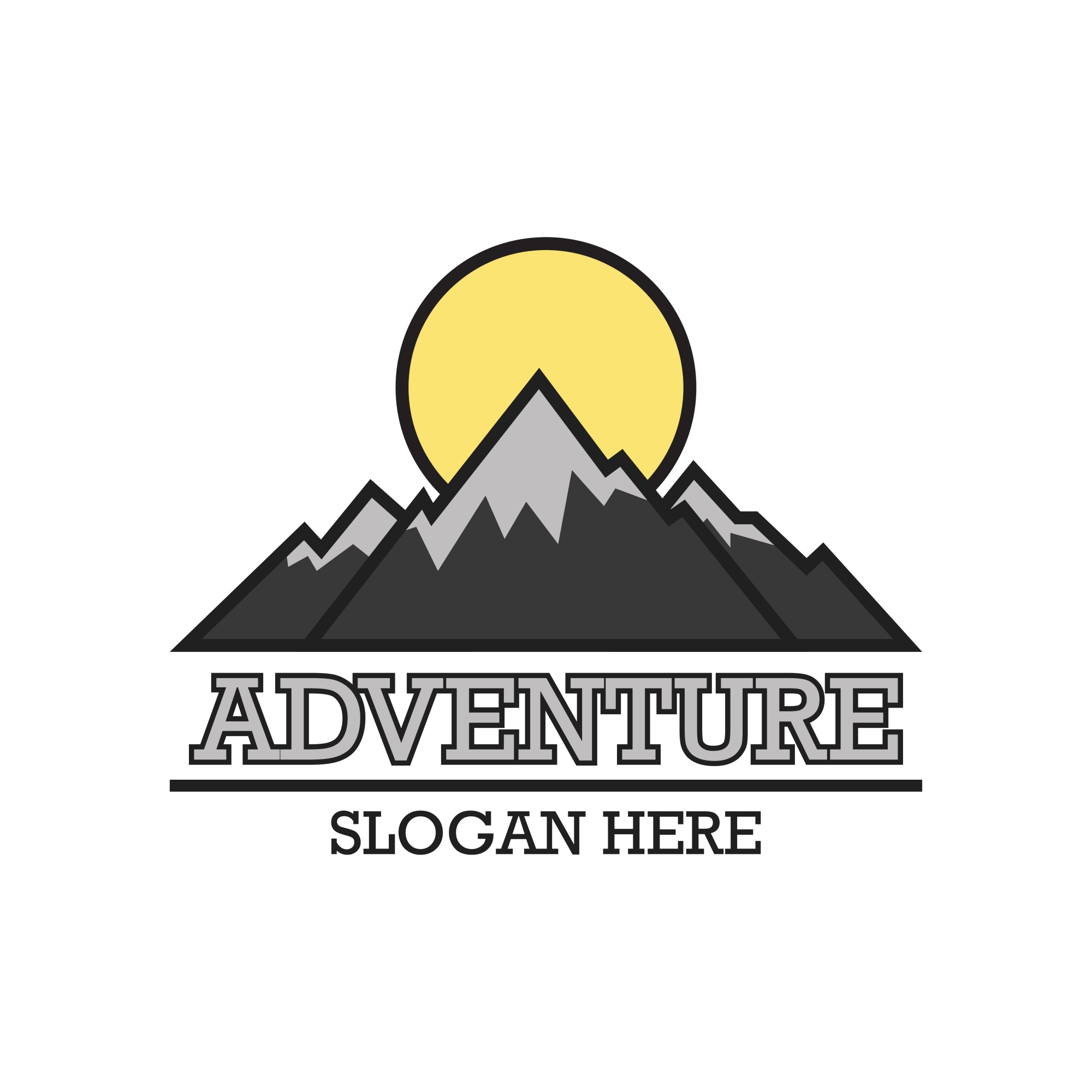 Adventure logo with text space for your slogan