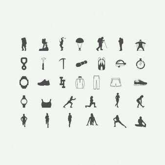 Adventure sports icons