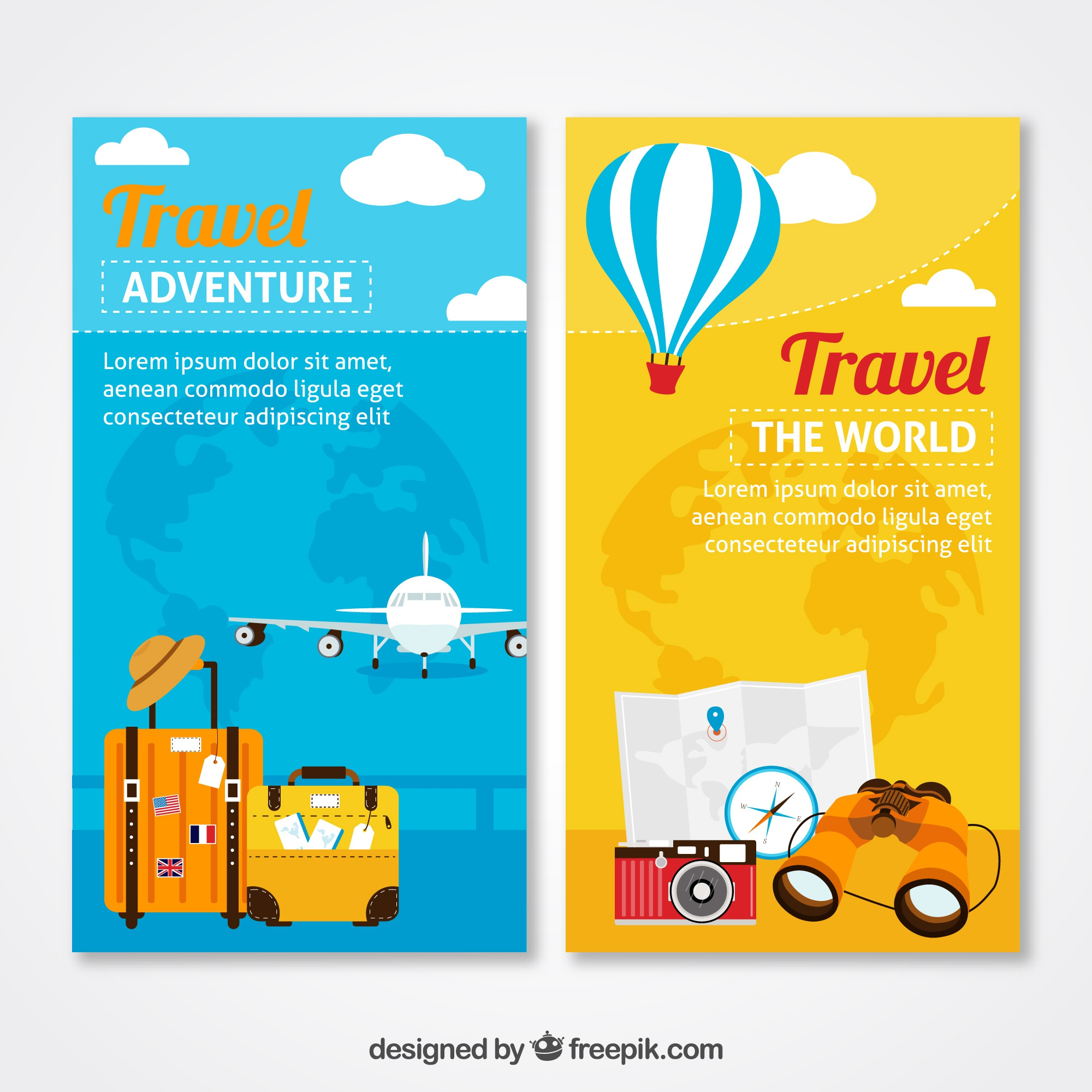 Adventure travel banners